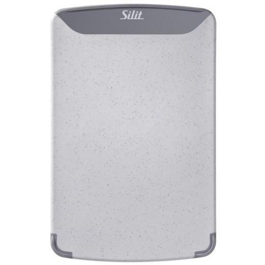 SCHNEIDEBRETT Kunststoff - Grau, Basics, Kunststoff (25.0/16.0/1.5cm) - Silit