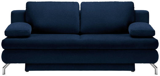 SCHLAFSOFA in Textil Blau - Chromfarben/Blau, Design, Textil/Metall (200/91/92cm) - Novel