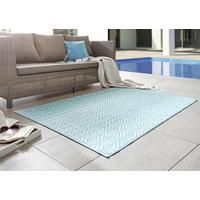 OUTDOORTEPPICH  In-/ Outdoor  Hellblau, Weiß - Weiß/Hellblau, Trend, Textil (90/150cm) - Boxxx