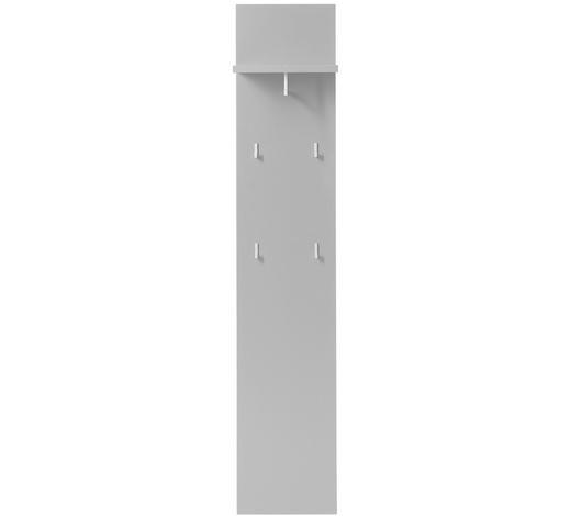 GARDEROBENPANEEL 32/164/30 cm - Grau, Design, Holzwerkstoff/Metall (32/164/30cm) - Xora