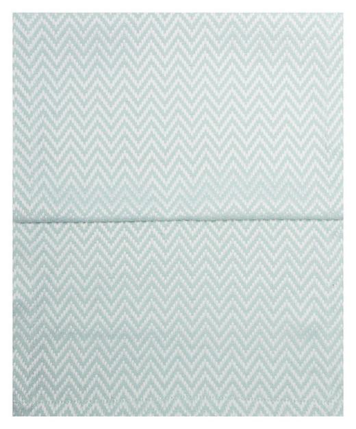 TISCHLÄUFER Textil Jacquard Mintgrün, Weiß 40/150 cm - Weiß/Mintgrün, Textil (40/150cm)