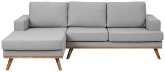 WOHNLANDSCHAFT in Textil Hellgrau  - Klar/Hellgrau, Design, Holz/Textil (148/233cm) - Carryhome