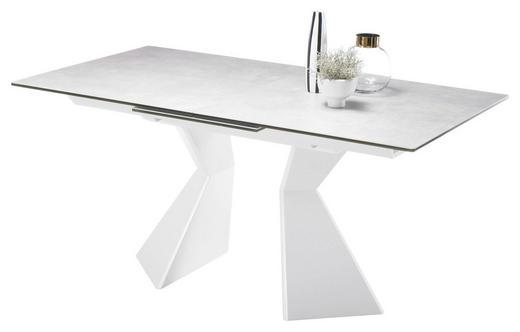 AUSZIEHTISCH Hellgrau, Weiß - Hellgrau/Weiß, Design, Glas/Keramik (160(210)/90/76cm) - Carryhome