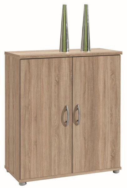 KOMODA - barve hrasta/hrast sonoma, Design, umetna masa/leseni material (60/70/30cm) - BOXXX