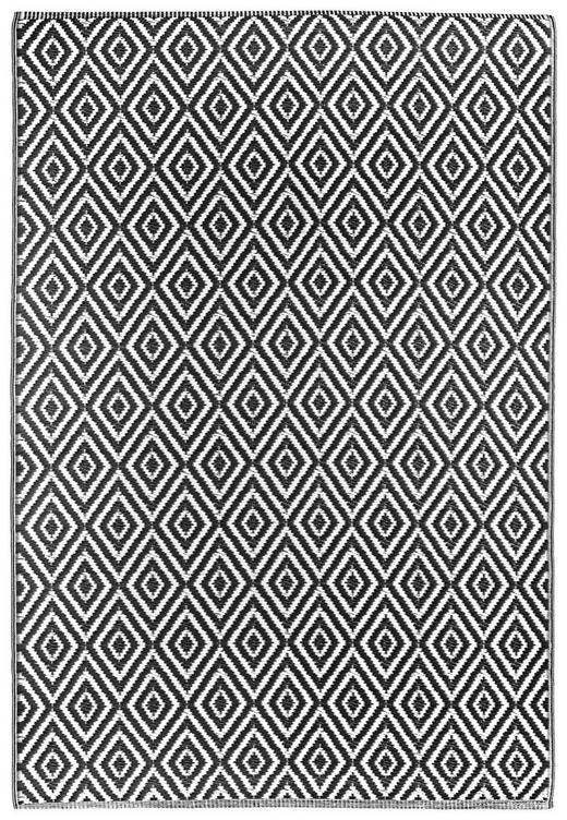 OUTDOORTEPPICH  In-/ Outdoor 120/180 cm  Schwarz, Weiß - Schwarz/Weiß, Trend, Textil (120/180cm) - Boxxx