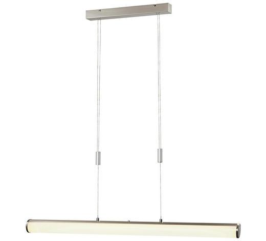 LED-HÄNGELEUCHTE - Weiß/Nickelfarben, KONVENTIONELL, Kunststoff/Metall (100cm)