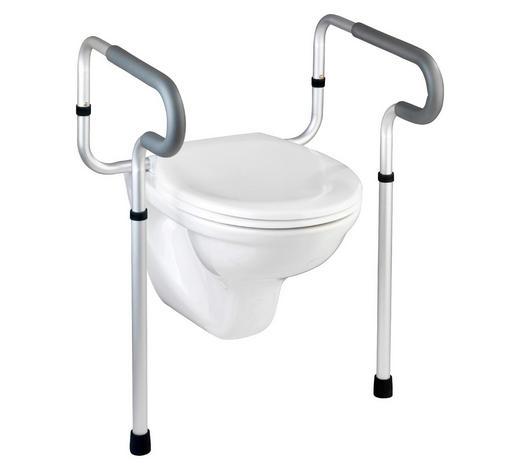 WC-Stützgriff Grau, Schwarz, Alufarben  - Schwarz/Alufarben, Basics, Kunststoff/Metall (10/21/53cm)