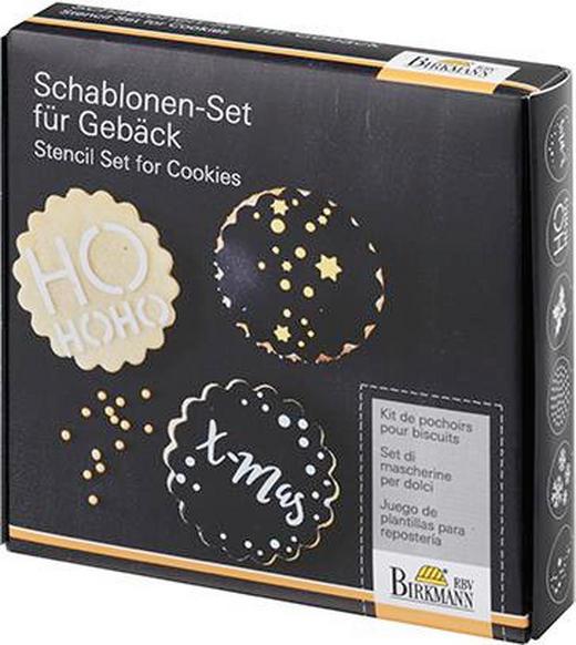 KUCHENSCHABLONE - Schwarz, Design, Kunststoff/Metall (14,2/14,2/3cm)