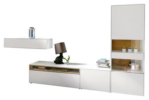 WOHNWAND Eiche furniert Eichefarben, Weiß - Eichefarben/Weiß, Design, Holz/Holzwerkstoff (350/181/45cm) - Now by Hülsta
