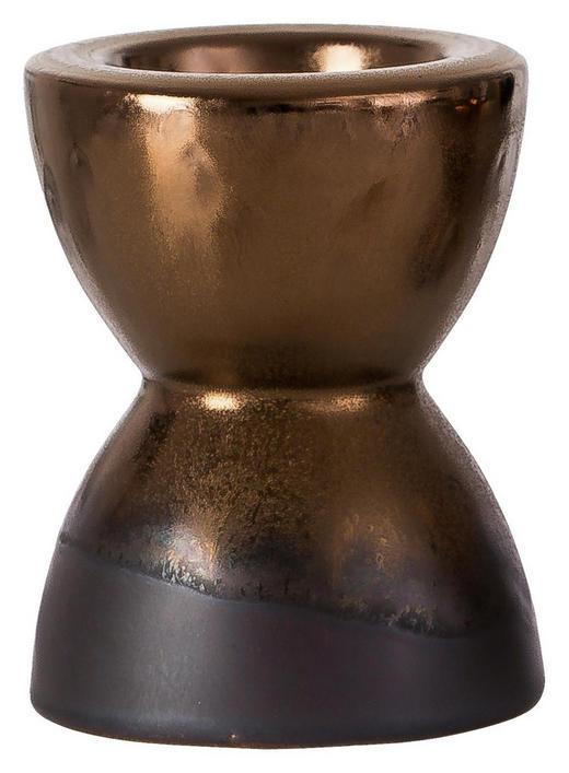 TEELICHTHALTER - Goldfarben/Braun, LIFESTYLE, Keramik (8 8 10cm) - Ritzenhoff Breker