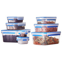 VORRATSDOSENSET 3-teilig  - Blau/Klar, Basics, Kunststoff - Emsa