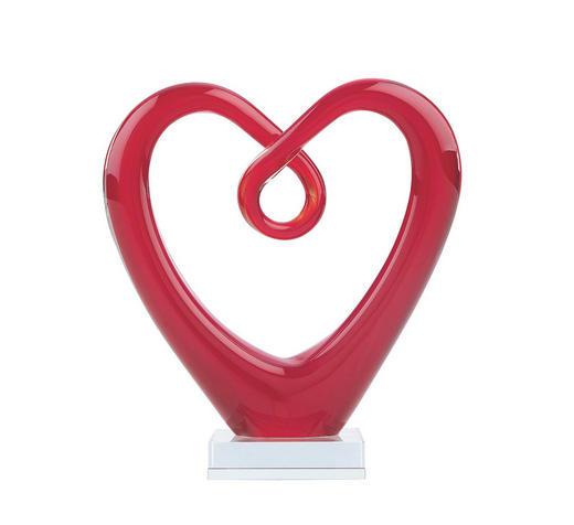 DEKORATIONSHJÄRTA - röd, Basics, glas (18,5/8/20,5cm) - AMBIA HOME