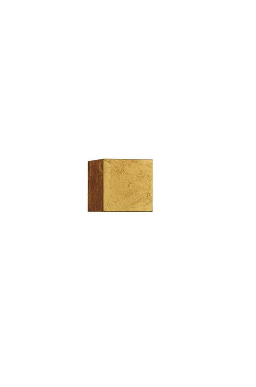 AUßENWANDLEUCHTE Goldfarben - Goldfarben, MODERN, Metall (10/10/10cm) - Helestra