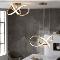 LED-DECKENLEUCHTE - Goldfarben, Design, Kunststoff/Metall (59/29/59cm) - Ambiente