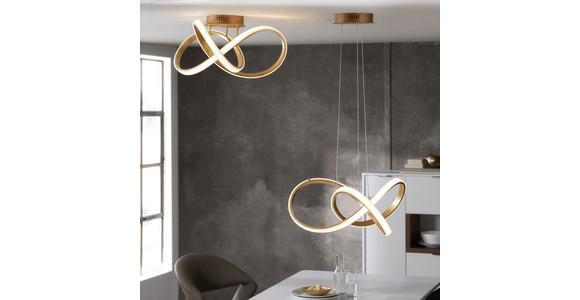 LED-HÄNGELEUCHTE  - Goldfarben, Design, Kunststoff/Metall (55/150/55cm) - Ambiente