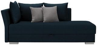 LIEGE in Textil Petrol, Hellgrau  - Chromfarben/Petrol, Design, Kunststoff/Textil (220/93/100cm) - Xora