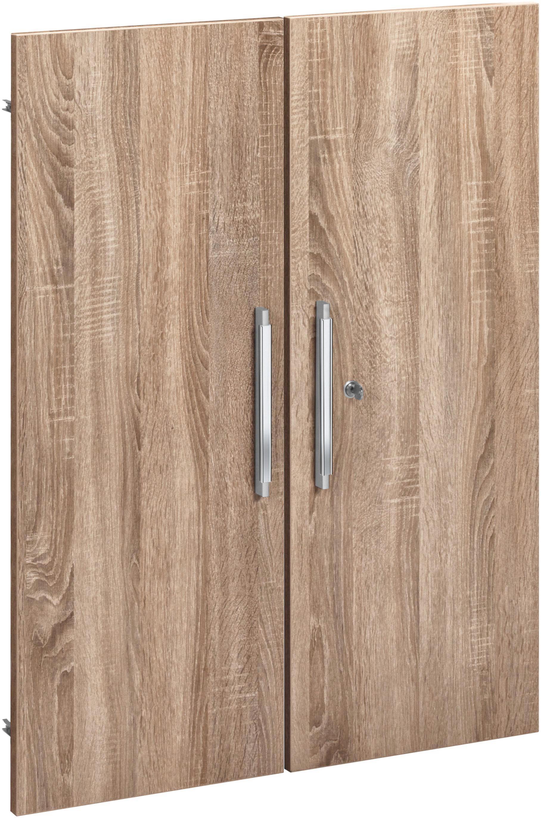TÜR Sonoma Eiche - Silberfarben/Sonoma Eiche, Design, Kunststoff (76/102cm)