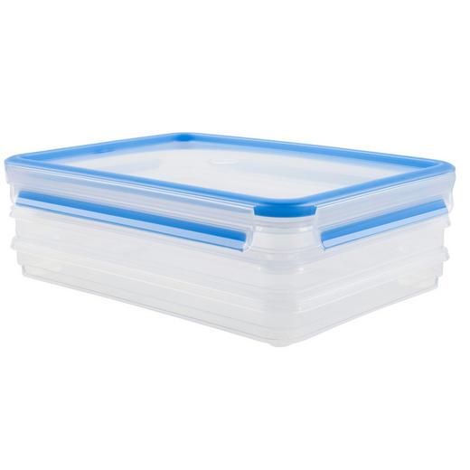 FRISCHHALTEDOSE 1,0 L - Blau/Transparent, Basics, Kunststoff (1,0l) - Emsa