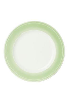 MATTALLRIK - ljusgrön/vit, Design, keramik (28,1cm) - Novel