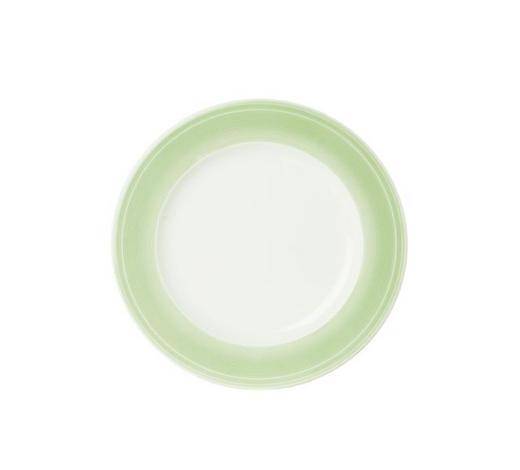 TALÍŘ JÍDELNÍ, porcelán - bílá/světle zelená, Design, keramika (28,1cm) - Novel