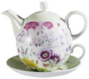 TEA-FOR-ONE-SET - ljusgrön/vit, Basics, keramik - Landscape