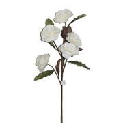 KUNSTBLUME Rose  - Weiß/Braun, Basics, Kunststoff/Metall (94cm) - Ambia Home