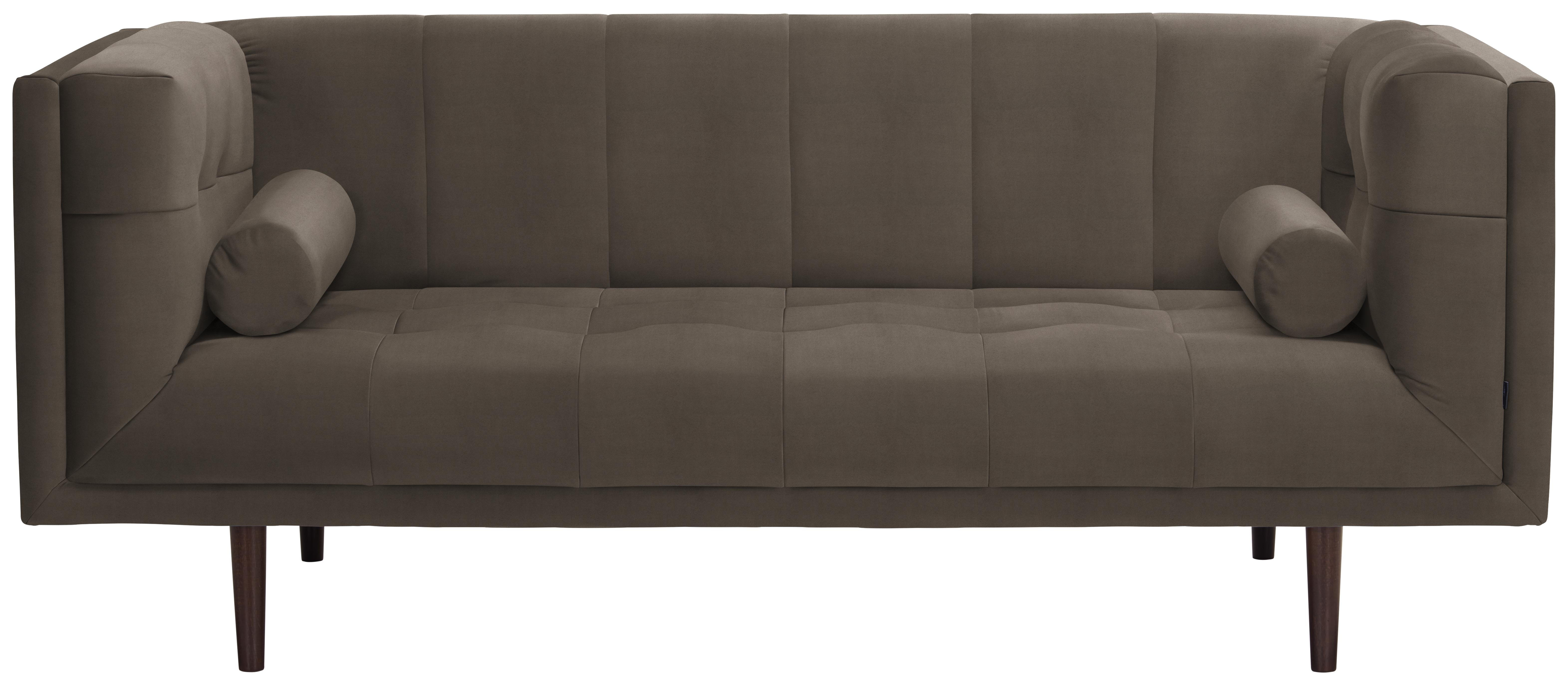 SOFA   Taupe/Dunkelbraun, Design, Holzwerkstoff/Textil (200/80/