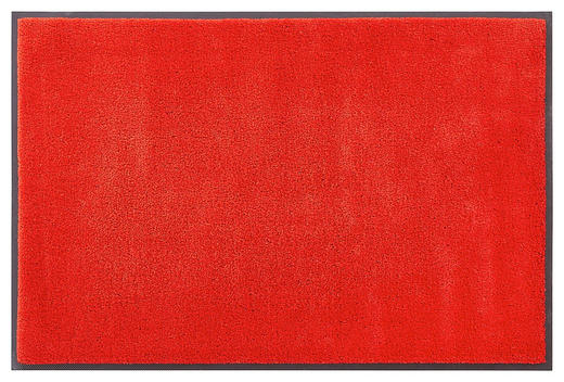 FUßMATTE 75/120 cm Uni Rot - Rot, Basics, Kunststoff/Textil (75/120cm) - Esposa