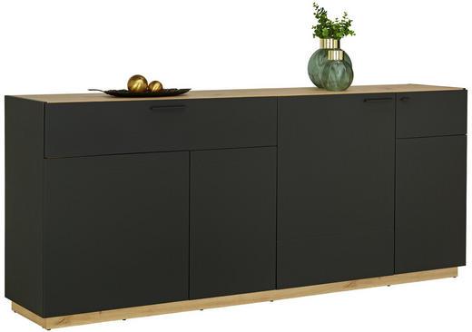 SIDEBOARD - Eichefarben/Schwarz, Design, Holzwerkstoff/Kunststoff (200/84/41,5cm)