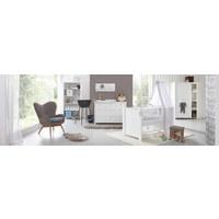 GARDEROBNA OMARA ZA DOJENČKE, bela  - aluminij/bela, Trend, kovina/leseni material (135/188/55cm) - My Baby Lou