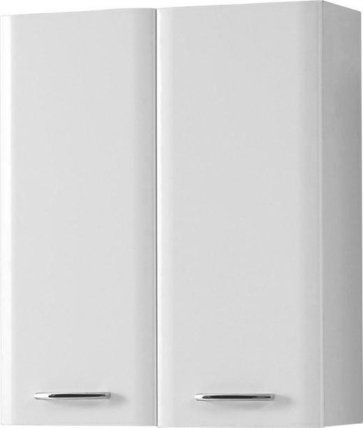 HÄNGESCHRANK Weiß - Chromfarben/Weiß, Basics, Holzwerkstoff (60/73/20cm) - Carryhome
