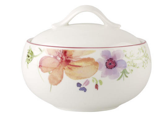 ZUCKERDOSE Keramik - Multicolor/Weiß, Basics, Keramik (0,45l) - Villeroy & Boch