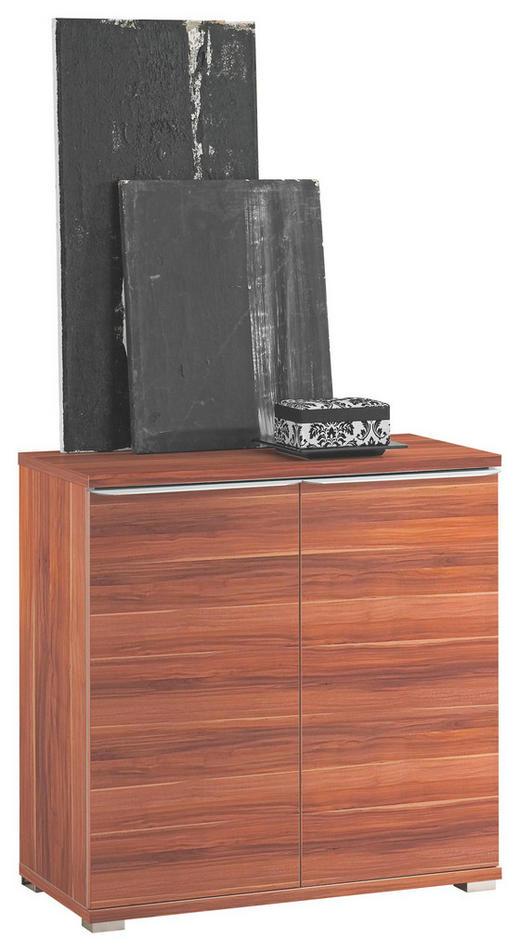 KOMMODE Nussbaumfarben - Nussbaumfarben/Alufarben, Design, Holzwerkstoff/Kunststoff (80/80/40cm) - MODERANO