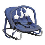 SCHAUKELWIPPE  - Blau/Silberfarben, KONVENTIONELL, Kunststoff/Textil (67/49/52cm) - My Baby Lou