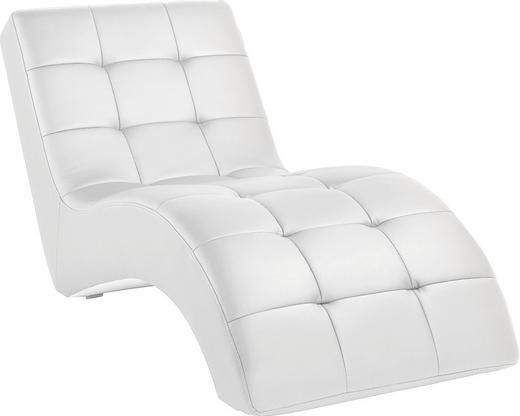RELAXLIEGE Lederlook Weiß - Schwarz/Weiß, Design, Kunststoff/Textil (75/85/170cm) - Carryhome