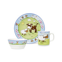 KINDERGESCHIRRSET Porzellan 3-teilig - Multicolor, Basics, Keramik - My Baby Lou