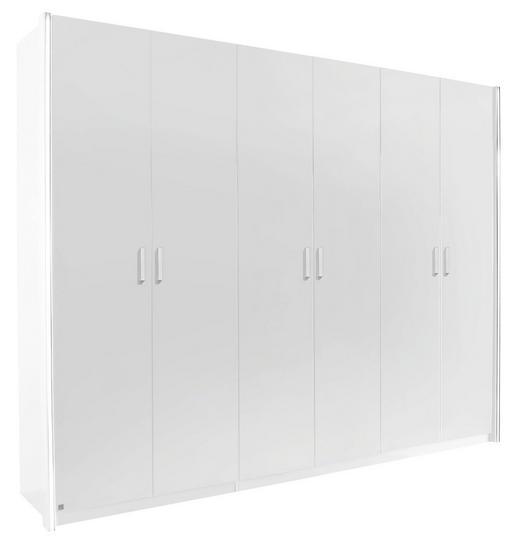 DREHTÜRENSCHRANK 6-türig Weiß - Alufarben/Weiß, Design, Holzwerkstoff/Metall (270/223/60cm) - Hom`in