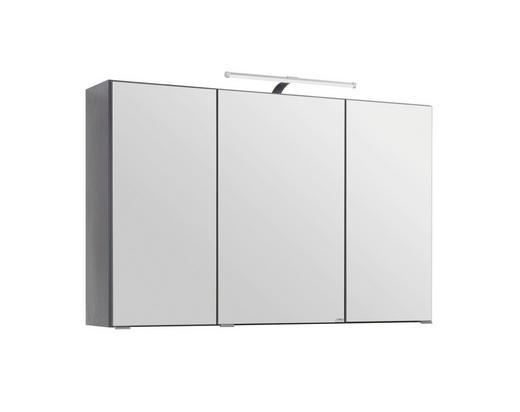 SPIEGELSCHRANK Graphitfarben - Graphitfarben, Design, Glas/Holzwerkstoff (100/64/20cm) - Carryhome