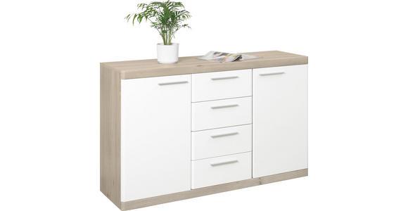 SIDEBOARD 135/92/43 cm  - Eichefarben/Alufarben, KONVENTIONELL, Holzwerkstoff/Kunststoff (135/92/43cm) - Xora