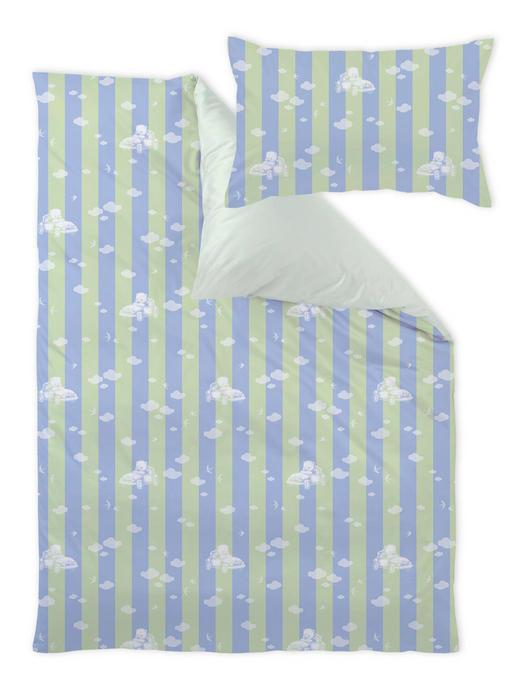 BABYBETTWÄSCHE - Blau/Grün, Basics, Textil (100/135cm)