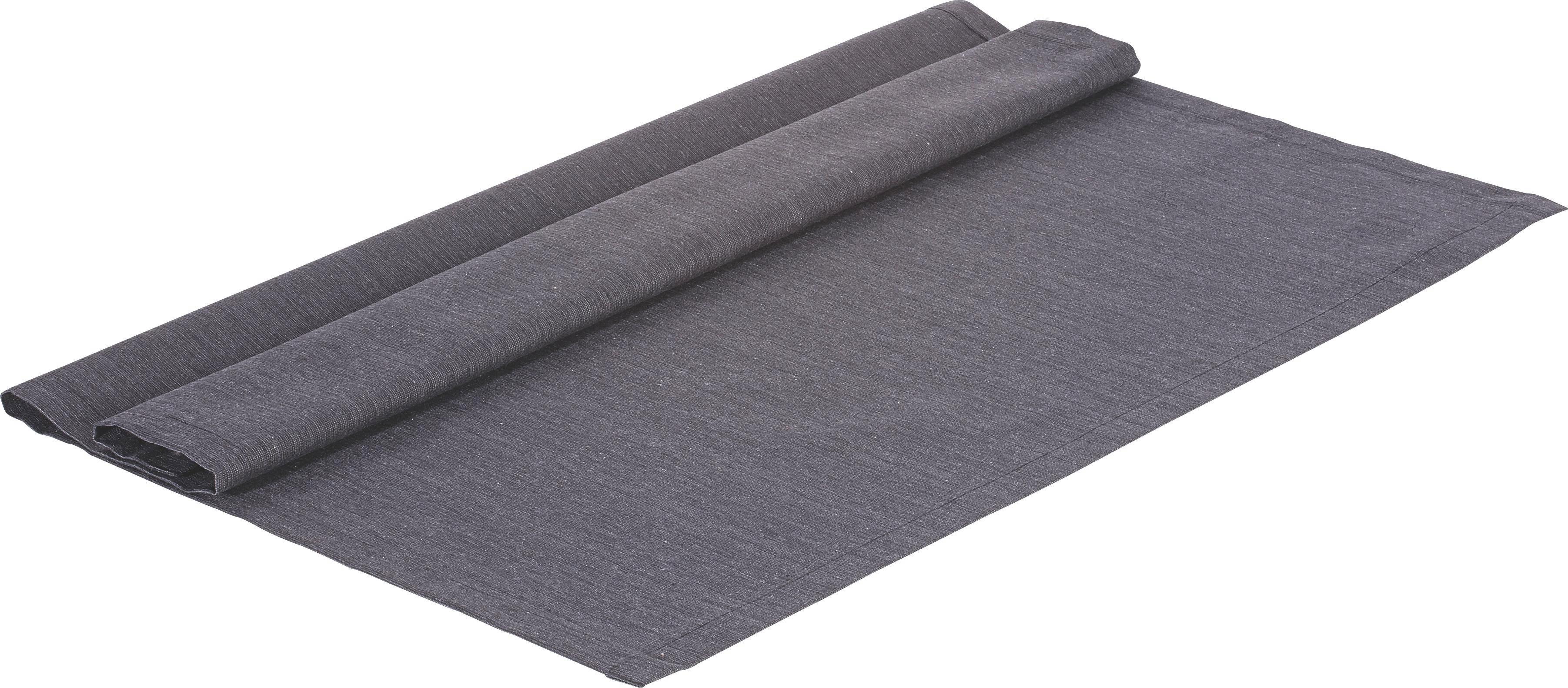TISCHDECKE Textil Leinwand, Struktur Anthrazit 80/80 cm - Anthrazit, Textil (80/80cm) - NOVEL