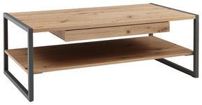 COUCHTISCH rechteckig Grau, Eichefarben  - Eichefarben/Grau, Design, Metall (110/60/40cm) - Hom`in