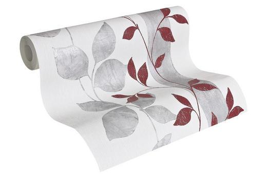 VLIESTAPETE 10,05 m - Rot/Weiß, LIFESTYLE, Textil (53/1005cm)