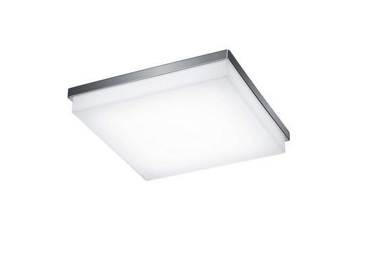 LED-DECKENLEUCHTE - Chromfarben, Design, Metall (31,5/31,5/6,5cm) - Helestra