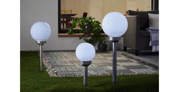 Solarleuchten 3er Set - Silberfarben/Weiß, Design, Kunststoff (15cm) - Boxxx