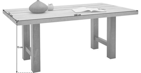 ESSTISCH in Holz, Metall 180/100/75 cm - Eichefarben/Schwarz, Design, Holz/Metall (180/100/75cm) - Valnatura