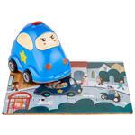 Holzpuzzle mit Polizeiauto - Türkis/Blau, Basics, Kunststoff (14,6/10/15cm) - My Baby Lou