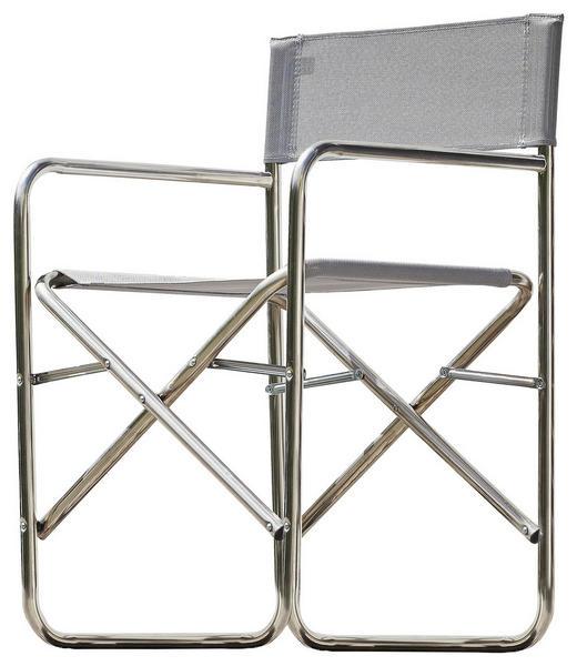 REGIESTUHL Aluminium Alufarben, Grau - Alufarben/Grau, Design, Textil/Metall (51/83/44cm) - Jan Kurtz