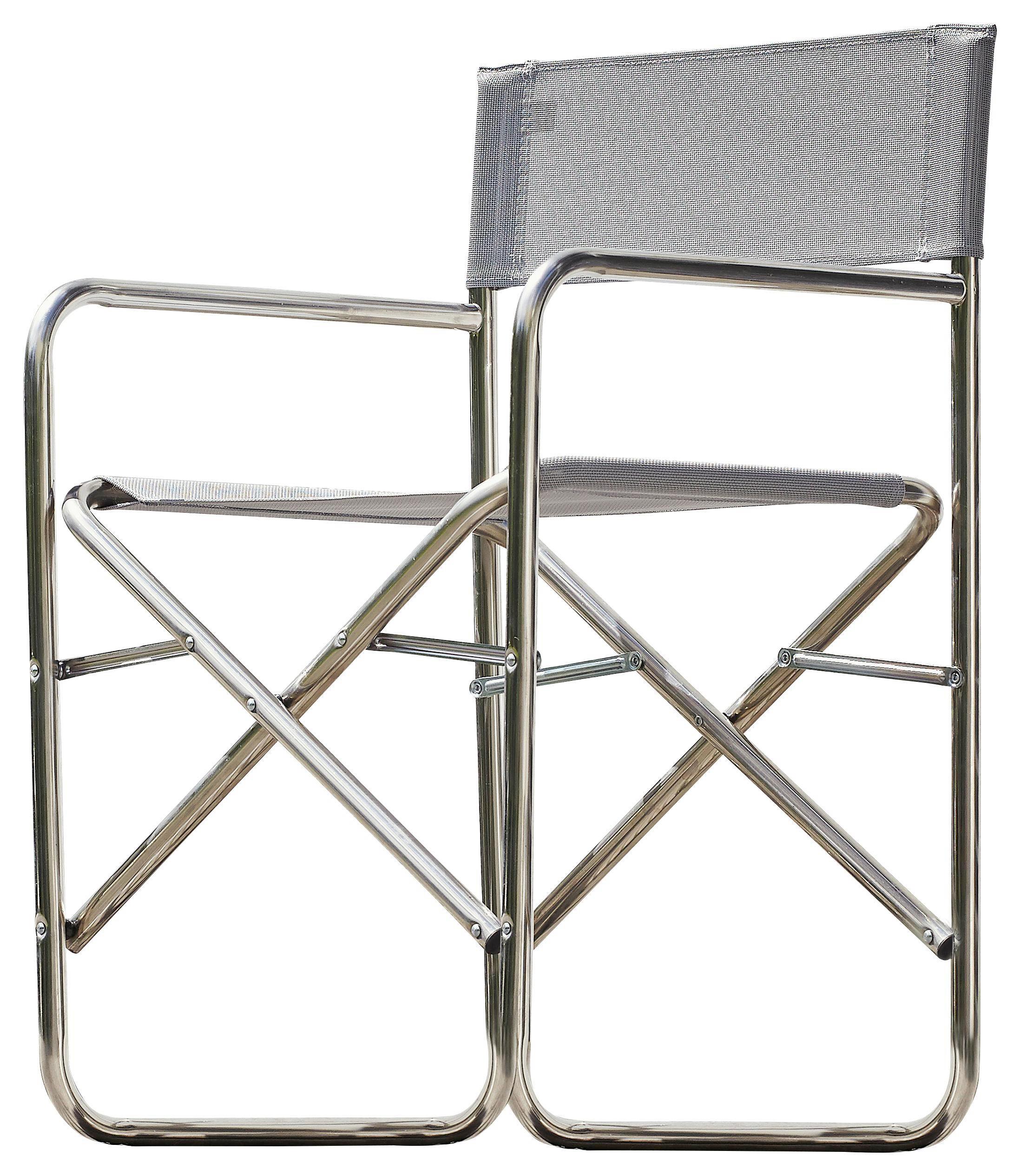 REGIESTUHL Aluminium Alufarben, Grau - Alufarben/Grau, Design, Textil/Metall (51/83/44cm)