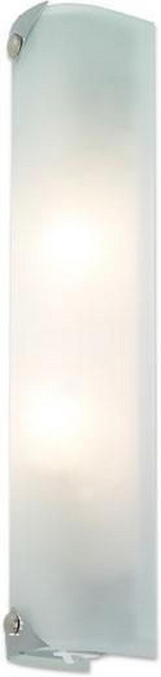 BADEZIMMER-WANDLEUCHTE - Chromfarben/Weiß, KONVENTIONELL, Metall (25cm)